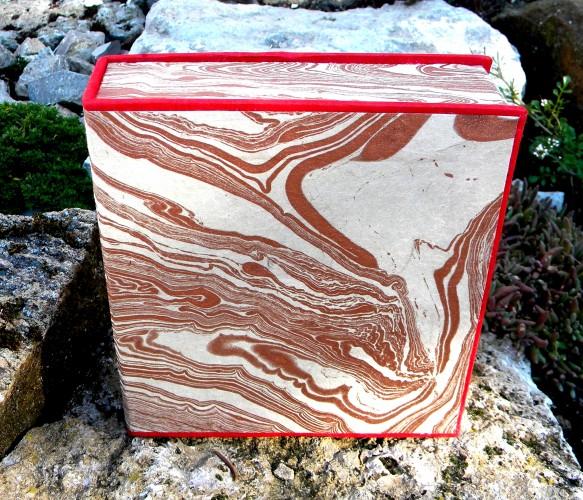 Geschenkschachtel bronce-marmoriert